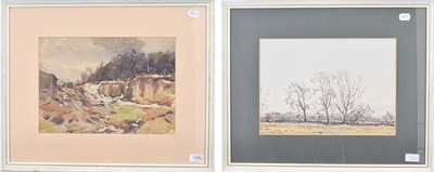 Lot 1082 - Fred Lawson (1888-1968)  Winter landscape  Signed and dated 1920, watercolour, together with a...
