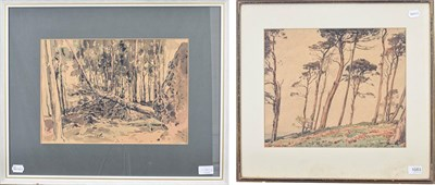 Lot 1083 - Fred Lawson (1888-1968)  Fallen Tree Signed, mixed media together with a further watercolour...