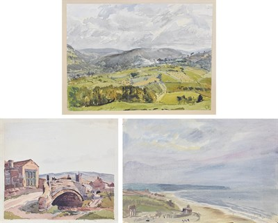 Lot 1088 - J McCulloch (20th Century) ''Kettleness Park''' Signed and dated 19(46) inscribed recto and further