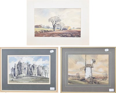 Lot 1090 - John Barrie Haste (1931-2011) ''Winter fields north of Ripon''  Signed and inscribed verso...