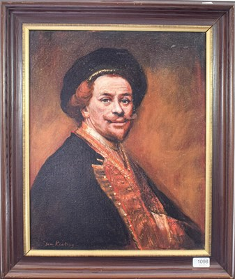 Lot 1098 - Tom Keating (1917-1984) After Rembrandt, self portrait of the artist Signed, oil on canvas, 49cm by