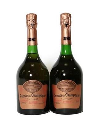 Lot 2011 - Taittinger Comtes De Champagne 1973 Rosé (two bottles), Charles Heidsieck Royal 1966 Champagne...
