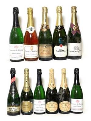 Lot 2015 - Charles Gruber Crémant De Prestige (three bottles), Besserat De Bellefon Cuvée Des Moines...