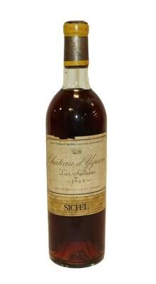 Lot 2018 - Château d'Yquem Lur-Saluces 1968 (one bottle)