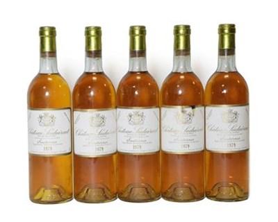 Lot 2021 - Château Suduiraut 1979 Sauternes (five bottles)