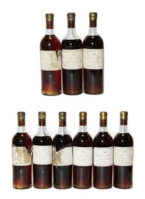 Lot 2022 - Château d'Yquem Lur Saluces 1945 (nine bottles)