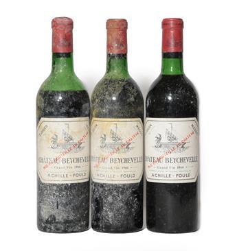 Lot 2035 - Château Beychevelle 1966, St. Julien, Médoc (three bottles)