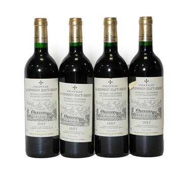 Lot 2038 - Château La Mission Haut-Brion 1997, Pessac-Léognan, Cru Classé Des Graves (four bottles)