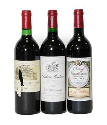 Lot 2040 - Château Montrose 1995, Saint-Estéphe (one bottle), Château Rauzan Gassies 2000, Margaux (one...