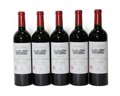 Lot 2046 - Château Grand-Puy-Lacoste 2001, Pauillac (five bottles)