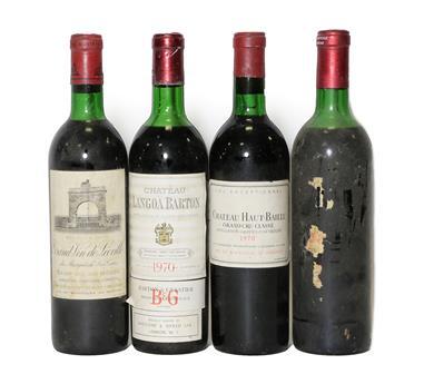 Lot 2049 - Château Petrus, Pomerol, label lacking, age unknown (one bottle), Château Haut-Bailly 1970 Graves