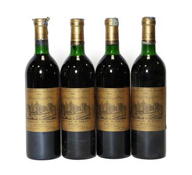 Lot 2057 - Château D'Issan 1985, Margaux (a.f.) (four bottles)