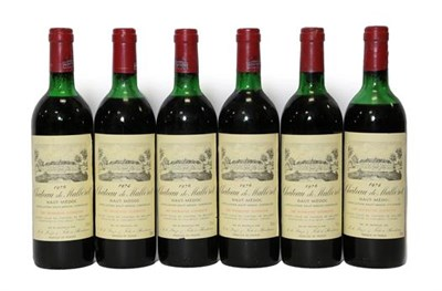 Lot 2059 - Château De Malleret 1974 Haut-Médoc (two bottles), Château De Malleret 1976 Haut-Médoc...