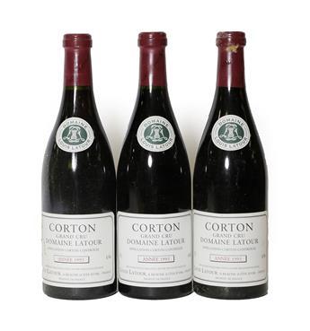 Lot 2064 - Domaine Louis Latour 1993 Corton Grand Cru (three bottles)