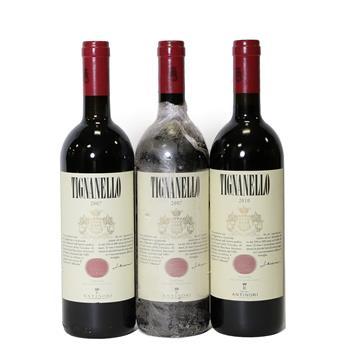 Lot 2072 - Antinori Tignanello 2007, Italy (two bottles), Antinori Tignanello 2010, Italy (one bottle) (3)