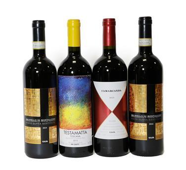 Lot 2073 - Bibi Graetz Testamatta Toscana 2015, Italy (one bottle), Gaja, Camarcanda 2015 Bolgheri, Italy (one