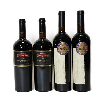 Lot 2087 - Sena 2013, Chile (two bottles), Errazuriz Dom Maximiano 2007 and 2008, Chile (two bottles) (4)