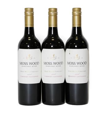Lot 2088 - Moss Wood 2008 Cabernet Sauvignon (three bottles)