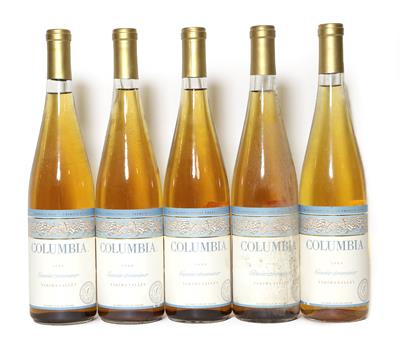 Lot 2089 - Columbia Winery, Yakima Valley, USA, Gewürztraminer 1988 (five bottles), Columbia Winery, Columbia