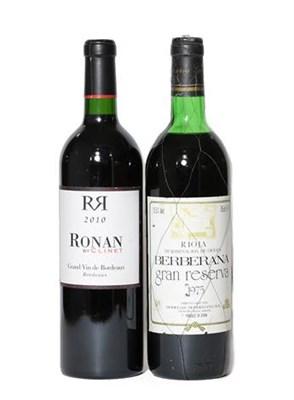 Lot 2092 - Berberana Gran Reerva, 1975, Rioja (one bottle), Ronan By Clinet, 2010, Grand Vin De Bordeaux...