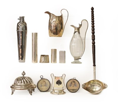 Lot 1 - A Collection of Silver and Silver Plate, including a silver table-bell, by George Unite,...