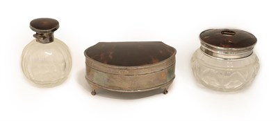Lot 3 - A George V Silver and Tortoiseshell-Mounted Ring-Box, by Percy James Finch, Birmingham, 1922,...