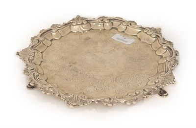 Lot 7 - A Silver Salver with London Assay Office Mark and Stamped Case Number 9399 and with Cancelled Marks