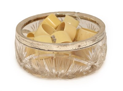 Lot 11 - A George V Silver-Mounted Cut-Glass Bowl, by Walter Gardener Groves, London, 1928, cracked together