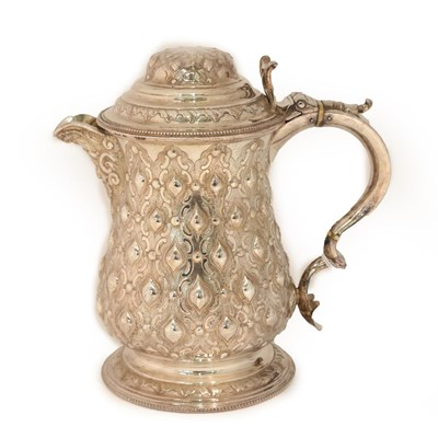 Lot 19 - A Victorian Silver Plate Jug, by Martin Hall and Co., Second Half 19th century, baluster and on...