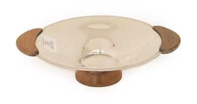 Lot 30 - An Elizabeth II Silver and Wood Bowl, by Emile Viners, Sheffield, 1962, the bowl circular and...