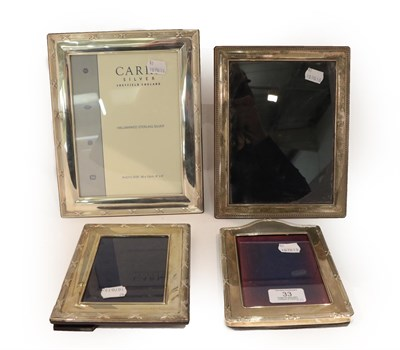 Lot 33 - Four Elizabeth II Silver-Mounted Photograph-Frames, Three by Carrs, Sheffield, 2005, 2008 and 2009