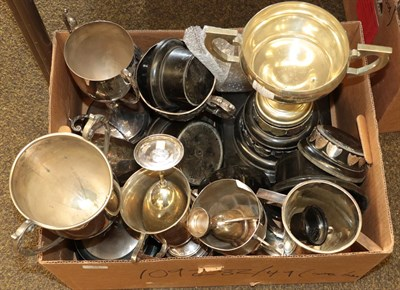 Lot 38 - Collection of Silver Plate Trophy Cups