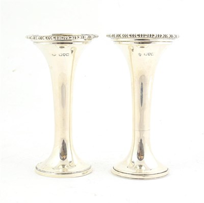 Lot 42 - A Pair of George V Silver Vases, by Horace Woodward and Co. Ltd., London, 1912, Retailed by The...