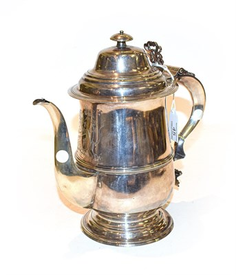 Lot 45 - A Silver Coffee-Pot, With London Assay Office Mark and Case Number 9396 and Cancelled Marks for...