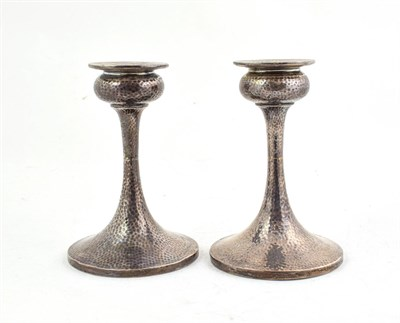 Lot 49 - A Pair of George V Silver Candlesticks, by S Blanckensee and Son Ltd, Birmingham, 1923, in the Arts