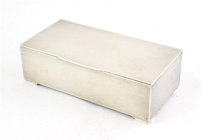 Lot 52 - A George VI Silver Cigarette-Box, by Padgett and Braham Ltd., London, 1938, oblong, the sides...