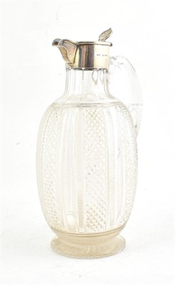 Lot 61 - A Victorian Silver-Mounted Cut-Glass Claret-Jug, by Henry Titterton Brockwell, London, 1894,...