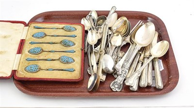 Lot 64 - A Collection of Assorted Silver Flatware, various patterns including Lily, Queens, Beaded and...