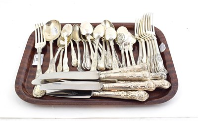 Lot 66 - A Collection of Silver Flatware, mostly King's or Queens pattern, most pieces variously...