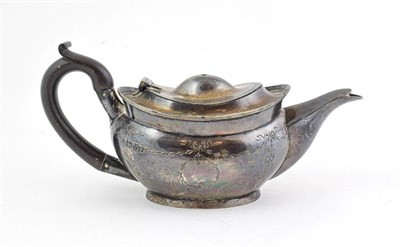 Lot 71 - An Edward VII Silver Teapot, by Nathan and Hayes, Chester, 1909, tapering oval, the sides...