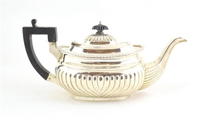 Lot 73 - A Victorian Silver Teapot, Probably by Thomas Hayes, Birmingham, 1898, oval and with part...