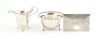 Lot 75 - A George V Silver Cream-Jug and Sugar-Bowl, by Mappin and Webb, Birmingham, 1922, each tapering and