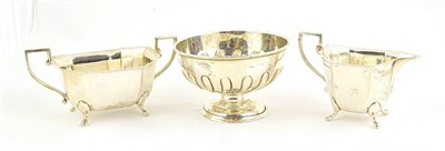 Lot 76 - A George VI Silver Cream-Jug and Sugar-Bowl, by Emile Viners, Sheffield, 1938, each elongated...