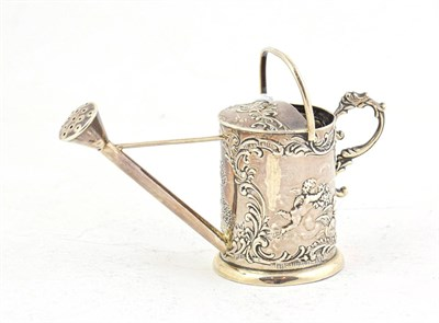 Lot 77 - A German Silver Toy Watering-Can, by Gebruder Dingeldein, Hanau, with English Import Marks for...