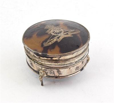 Lot 93 - A George V Silver and Tortoiseshell Jewellery-Box, by Edward Souter Barnsley, Birmingham, 1917,...