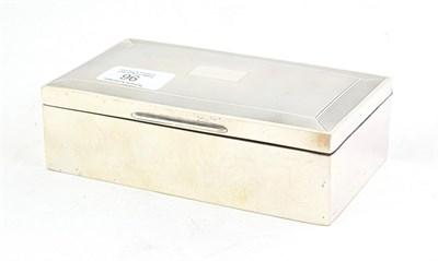 Lot 96 - An Elizabeth II Silver Cigarette-Box, by Harman Brothers, Birmingham, 1953, oblong, the hinged...