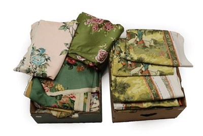 Lot 2003 - Assorted Post 1950 Upholstery and Curtain Fabrics, including Grafton Antique Satin and...