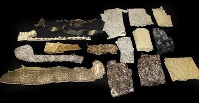 Lot 2018 - Assorted Late 19th/Early 20th Century Trims, including gilt and silver metallic lace trims,...