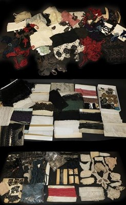 Lot 2021 - Assorted Circa 1880-1950 Costume Haberdashery, comprising woven and other fabric trimmings,...