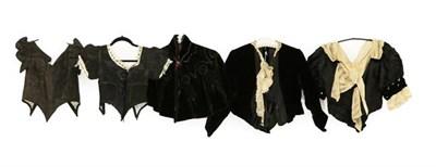 Lot 2045 - Late 19th/Early 20th Century Ladies' Costume, comprising a black silk taffeta sleeveless bodice...